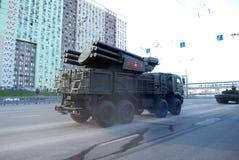 Sistema automotor do foguete e da arma do míssil terra-ar Armour-C1 do russo fotografia de stock royalty free