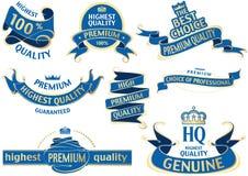 Sistema azul de la cinta de la bandera stock de ilustración