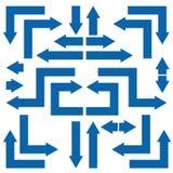 Sistema azul de la flecha Fotos de archivo libres de regalías