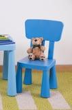 Sistema azul de la tabla del niño Fotos de archivo libres de regalías