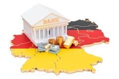 Sistema bancario en el concepto de Alemania representación 3d