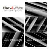 Sistema blanco y negro del fondo Foto de archivo libre de regalías