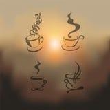 Sistema borroso del ejemplo de la taza de café Imágenes de archivo libres de regalías