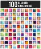 Sistema borroso multicolor del fondo del concepto creativo abstracto Para el web y las aplicaciones móviles, plantilla d del ejem Imagen de archivo