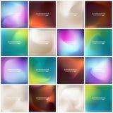 Sistema borroso multicolor del fondo del vector creativo abstracto del concepto Para el web y las aplicaciones móviles, ejemplo d Foto de archivo libre de regalías