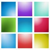 Sistema borroso multicolor del fondo del vector creativo abstracto del concepto Para el Web y las aplicaciones móviles Foto de archivo libre de regalías