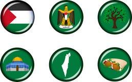 Sistema brillante del icono de Palestina Fotos de archivo