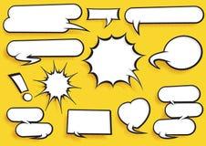 Sistema cómico de la burbuja del discurso Imagen de archivo libre de regalías