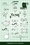 Sistema caligráfico Foto de archivo libre de regalías