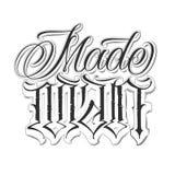 Sistema caligráfico del tatuaje libre illustration
