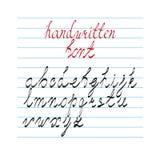 Sistema caligráfico dibujado mano del alfabeto Fotografía de archivo libre de regalías