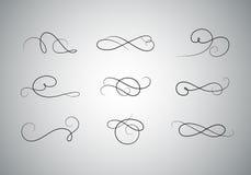 Sistema caligráfico superior del diseño ilustración del vector