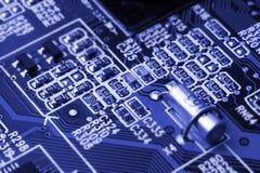 Sistema, cartão-matriz, computador e fundo da eletrônica Fotografia de Stock Royalty Free