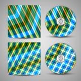 Sistema cd de la cubierta del vector para su diseño Imagen de archivo libre de regalías