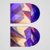 Sistema cd de la cubierta del vector para su diseño, abstracto Imagen de archivo libre de regalías