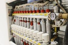 Sistema centralizado de la calefacción y de aire acondicionado Imagen de archivo libre de regalías