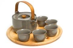 Sistema chino de la ceremonia de té Imágenes de archivo libres de regalías