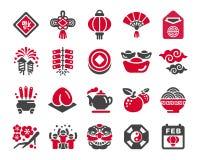 Sistema chino del icono del Año Nuevo ilustración del vector