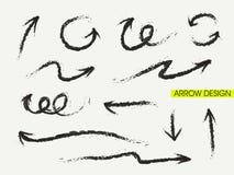 Sistema chino retro de la flecha del estilo de la caligrafía Foto de archivo