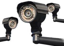Sistema a circuito cerrado del CCTV del Multi-?ngulo de la c?mara foto de archivo libre de regalías