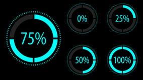 Sistema circular del icono del progreso Ilustración del vector stock de ilustración