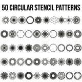 Sistema circular geométrico del ornamento Imagen de archivo libre de regalías