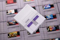 Sistema clásico del SNES de Nintendo fotos de archivo libres de regalías