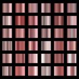 Sistema color de rosa del fondo de la textura de la hoja del oro Fotos de archivo libres de regalías