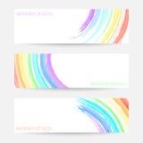 Sistema coloreado arco iris de la bandera del vector Imagenes de archivo