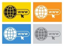 Sistema coloreado de iconos de la página web Vector ilustración del vector