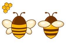 Sistema coloreado de la abeja Ilustración del vector ilustración del vector