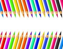 Sistema coloreado del vector de los lápices Foto de archivo libre de regalías