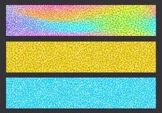 Sistema colorido brillante del fondo de los jefes que brilla stock de ilustración