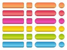 sistema colorido de botones en blanco Fotografía de archivo