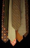 Sistema colorido de corbatas foto de archivo libre de regalías