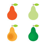 Sistema colorido de la pera Imagen de archivo libre de regalías