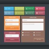 Sistema colorido de los elementos del web Fotografía de archivo libre de regalías