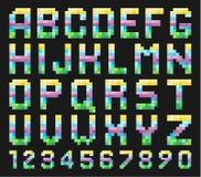 Sistema colorido del alfabeto Foto de archivo libre de regalías