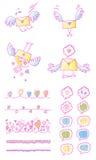 Sistema colorido del arco iris de la tarjeta del día de San Valentín Foto de archivo libre de regalías