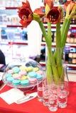 Sistema colorido del dulce con la decoración para el partido Foto de archivo libre de regalías