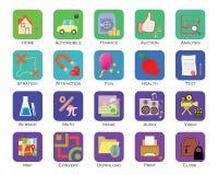 Sistema colorido del icono libre illustration