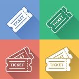 Sistema colorido del icono del boleto de la rifa del vector libre illustration