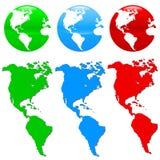 Sistema colorido del icono de la tierra Imagen de archivo