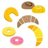 Sistema colorido del icono del pan Imagen de archivo