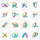 Sistema colorido del logotipo listo para utilizar libre illustration