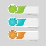 Sistema colorido del papel de etiqueta de la etiqueta engomada Foto de archivo