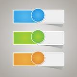 Sistema colorido del papel de etiqueta de la etiqueta engomada Fotos de archivo libres de regalías