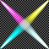 Sistema colorido del proyector Fotografía de archivo