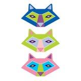 Sistema colorido del vector de los animales Imagen de archivo libre de regalías