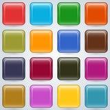 Sistema colorido del vector de los botones Foto de archivo libre de regalías